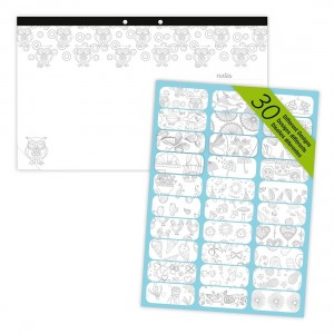 DoodlePlan™ Colouring Desk Pad - Undated