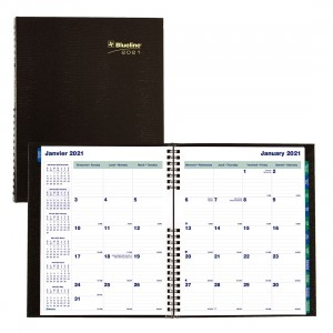 Monthly CoilPro Planner 2021, Black