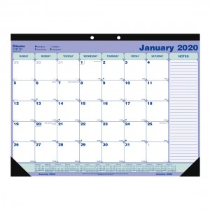 Desk Pad or Wall Calendar 2020, English