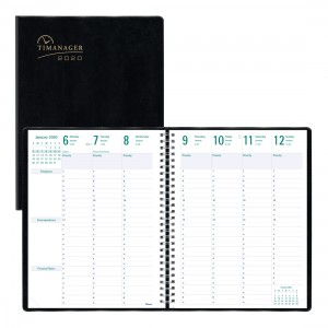 Timanager® Weekly Planner 2020, English, Black