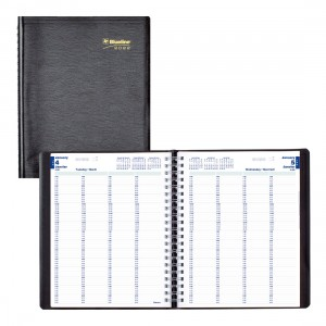 Daily Appointment Book for 4 Persons 2022, Black