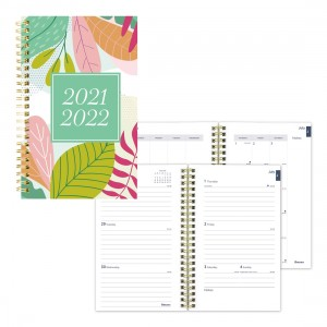 Academic Weekly Planner Floral 2021-2022, English