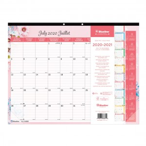 Academic Monthly Desk Pad Floral 2020-2021
