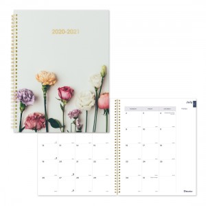 Academic Monthly Planner Floral Design 2020-2021 - English