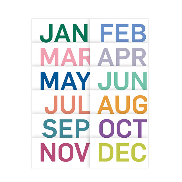 Monthly colours